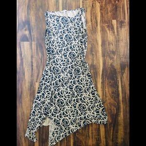 Diane Von Furstenberg Black & Gold Renaxi Dress-12